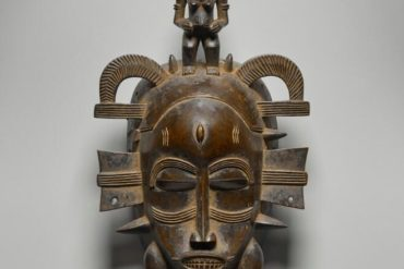 The Senufo people make distinctive animal-like masks. From the 20th century.