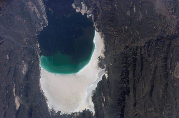 Lake Assal - a salt lake in southwestern Djibouti. The lake is the world's largest salt reserve.