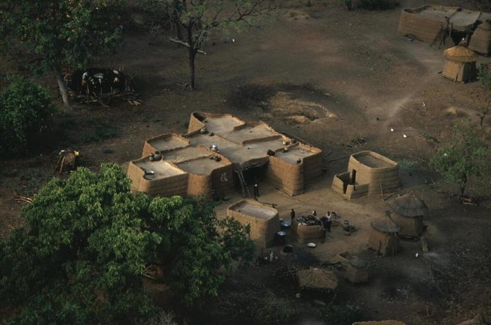 Overview image of a village in Comoé National Park.