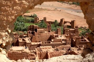 Borg (kasba) in Ait Benhaddou, Morocco