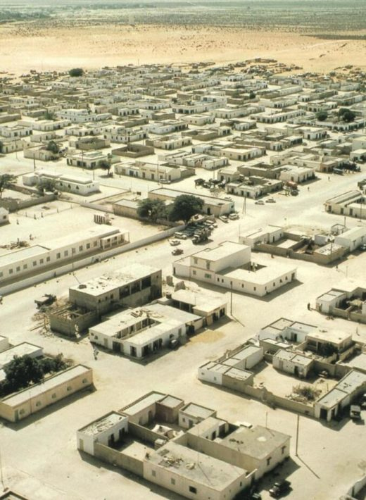 Buildings on the outskirts of the capital Nouakchott