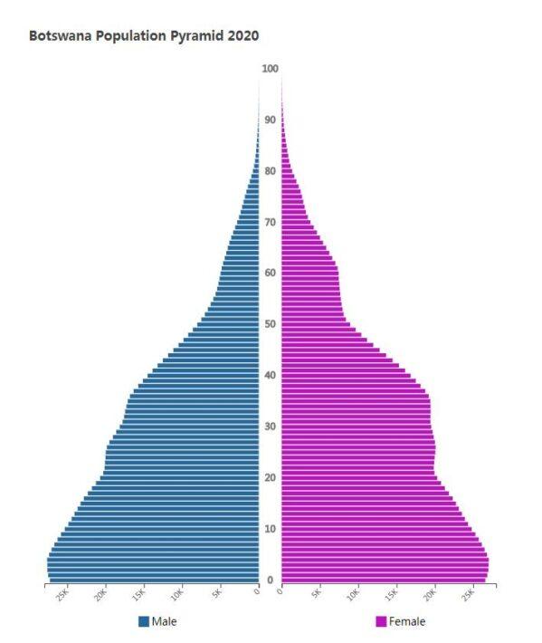 Botswana Population Pyramid 2020