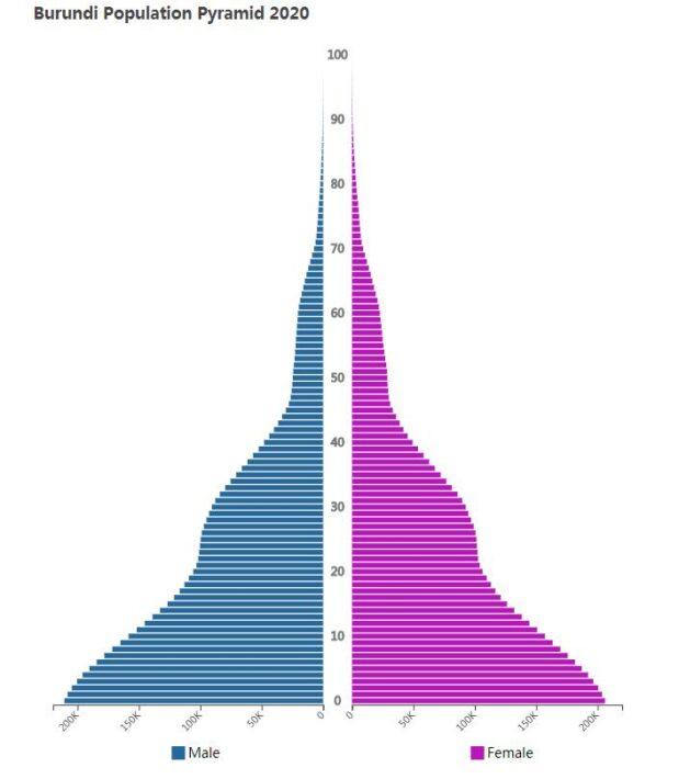 Burundi Population Pyramid 2020
