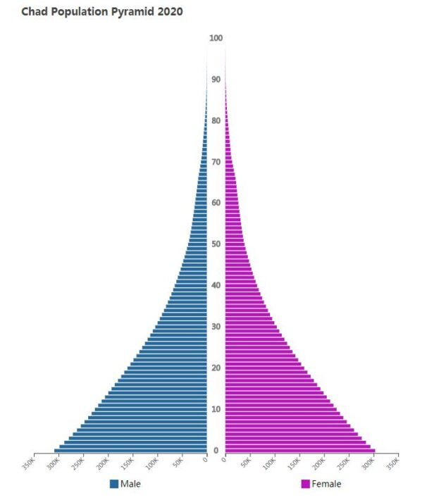 Chad Population Pyramid 2020