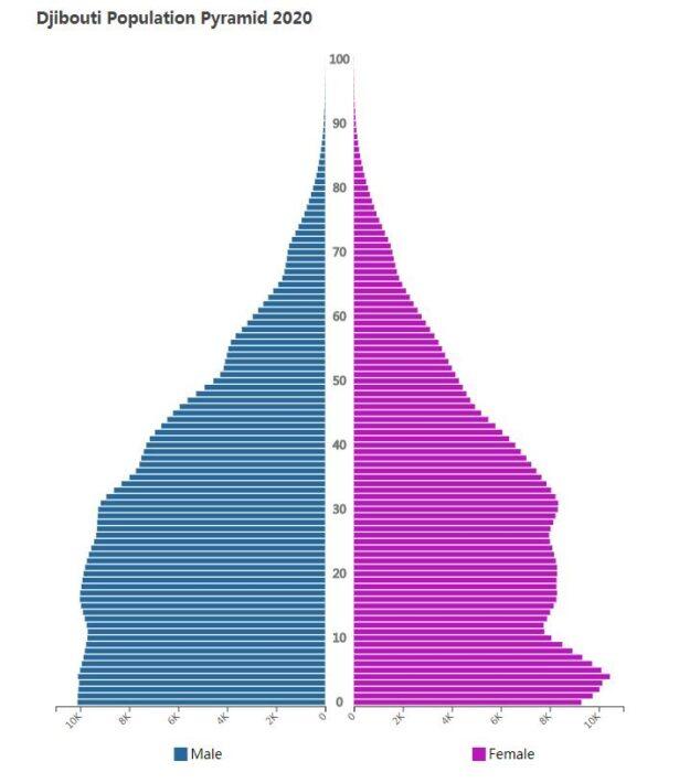 Djibouti Population Pyramid 2020
