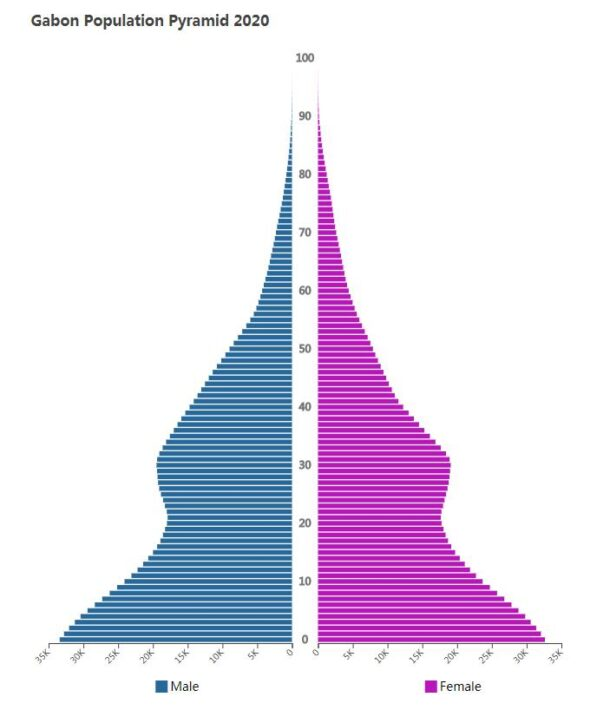 Gabon Population Pyramid 2020