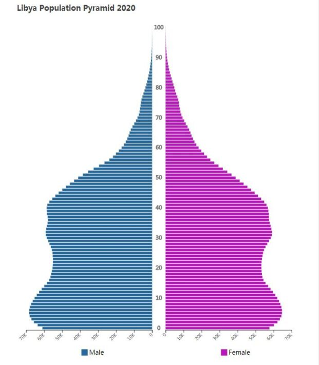 Libya Population Pyramid 2020