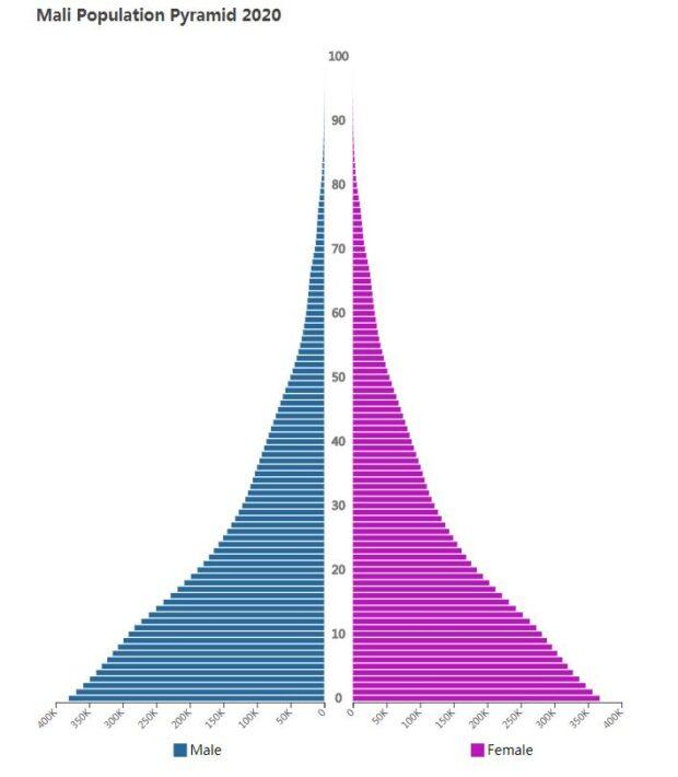Mali Population Pyramid 2020
