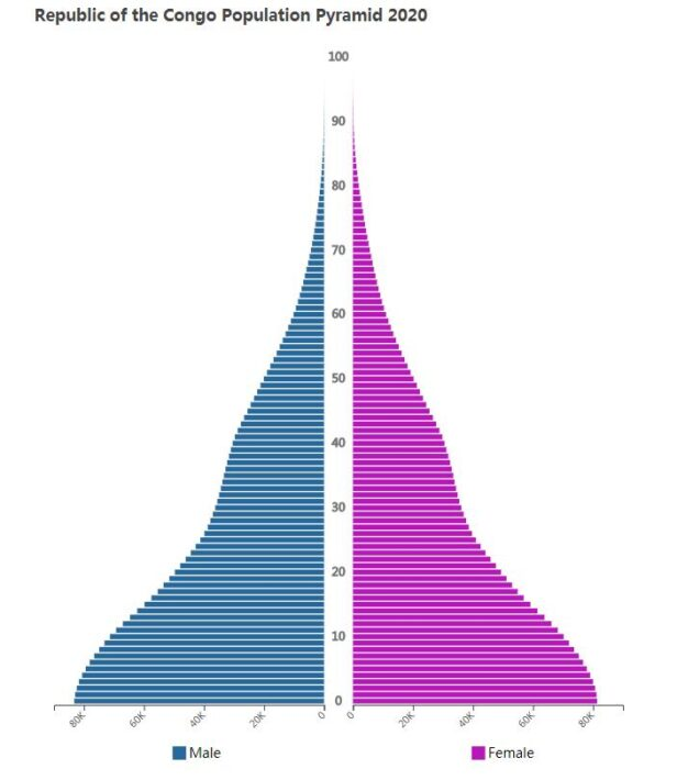 Republic of the Congo Population Pyramid 2020