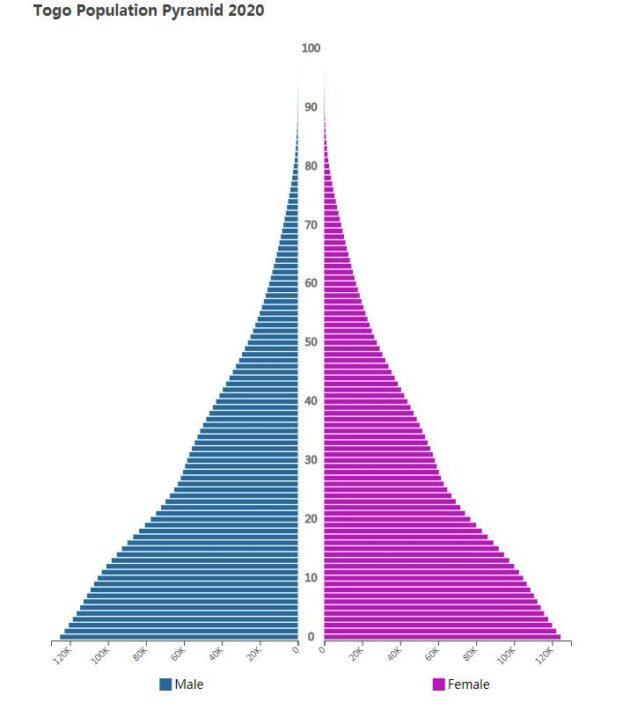 Togo Population Pyramid 2020