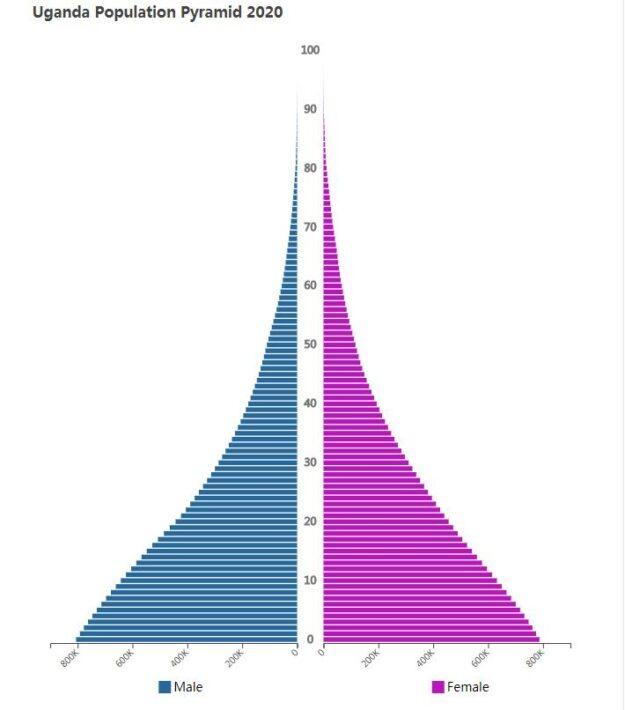 Uganda Population Pyramid 2020