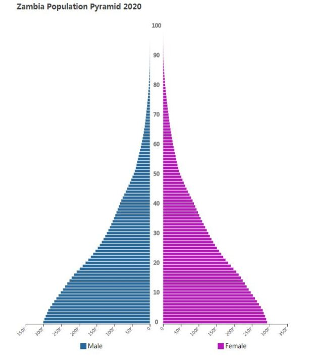 Zambia Population Pyramid 2020