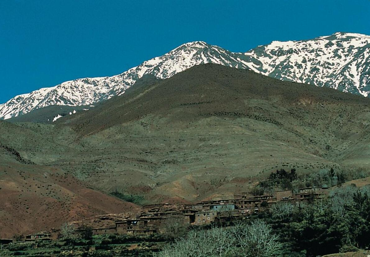 Berber Village in the Middle Atlas (Moyen Atlas).