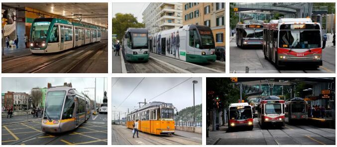 Tram-bound public transport