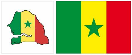 Senegal Flag and Map