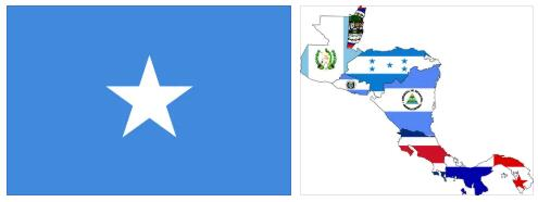 Somalia Flag and Map