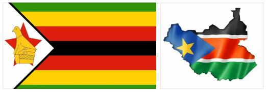 Zimbabwe Flag and Map 2