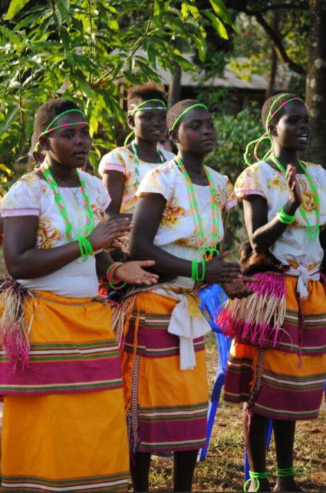 Dancers of the Ngoma Troupe in Mbale Uganda