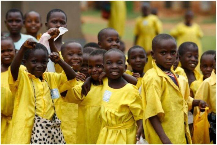 Most children go to school in Uganda