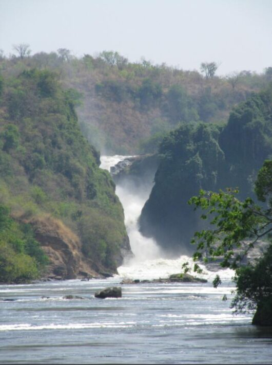 Nile Falls in the Murchison Falls National Park