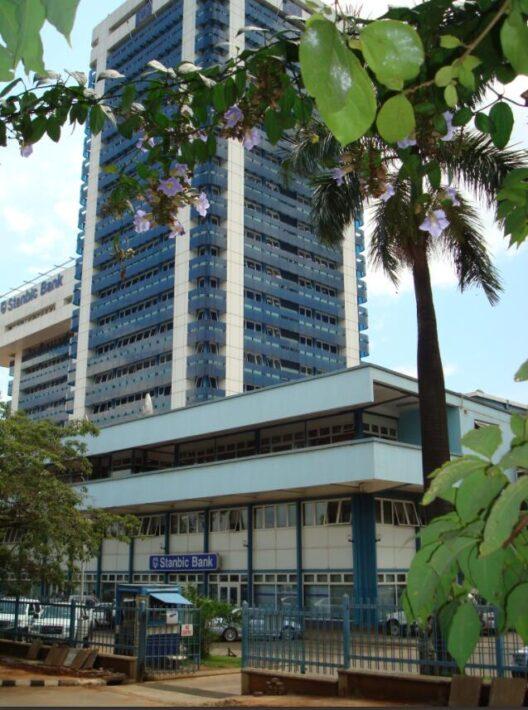 One of the big banks in Kampala, Uganda