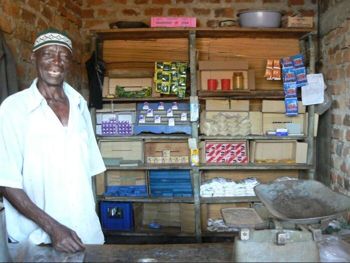 Shopkeepers in the country of Uganda