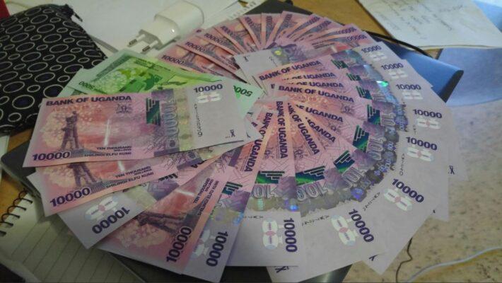 The currency of Uganda - the Uganda shilling